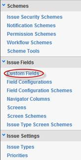 Custom Fields in the side bar